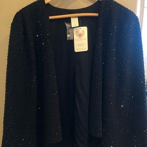 Black Studded Sparkly Cape